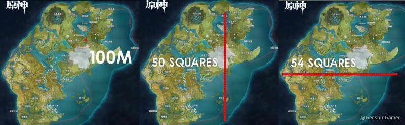Genshin impact bản đồ