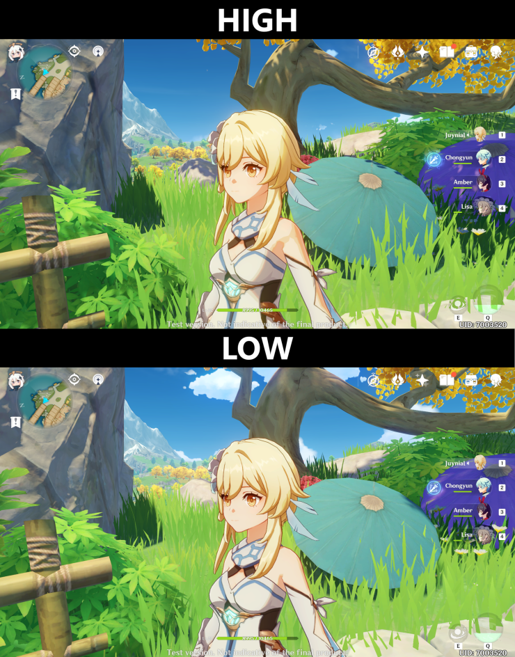 Pc Comparison Between Low And High Settings Genshin Impact Official Community