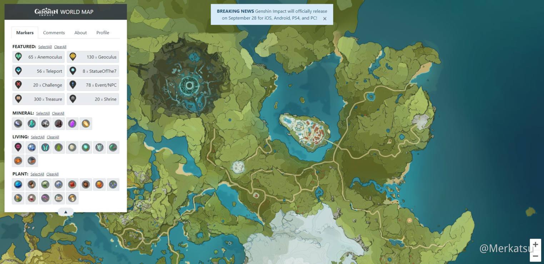 Genshin Impact Interactive World Map Genshin Impact Official Community