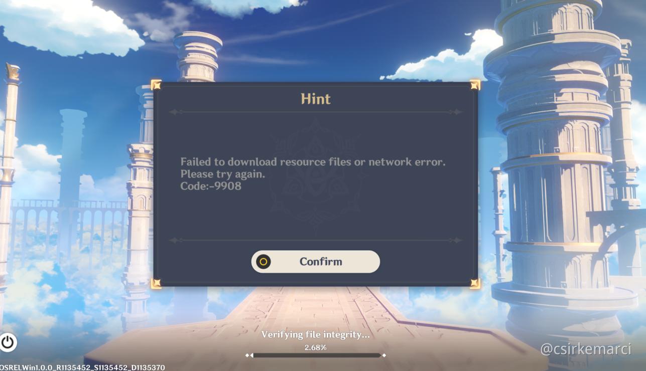 Error 9908 Genshin Impact Official Community