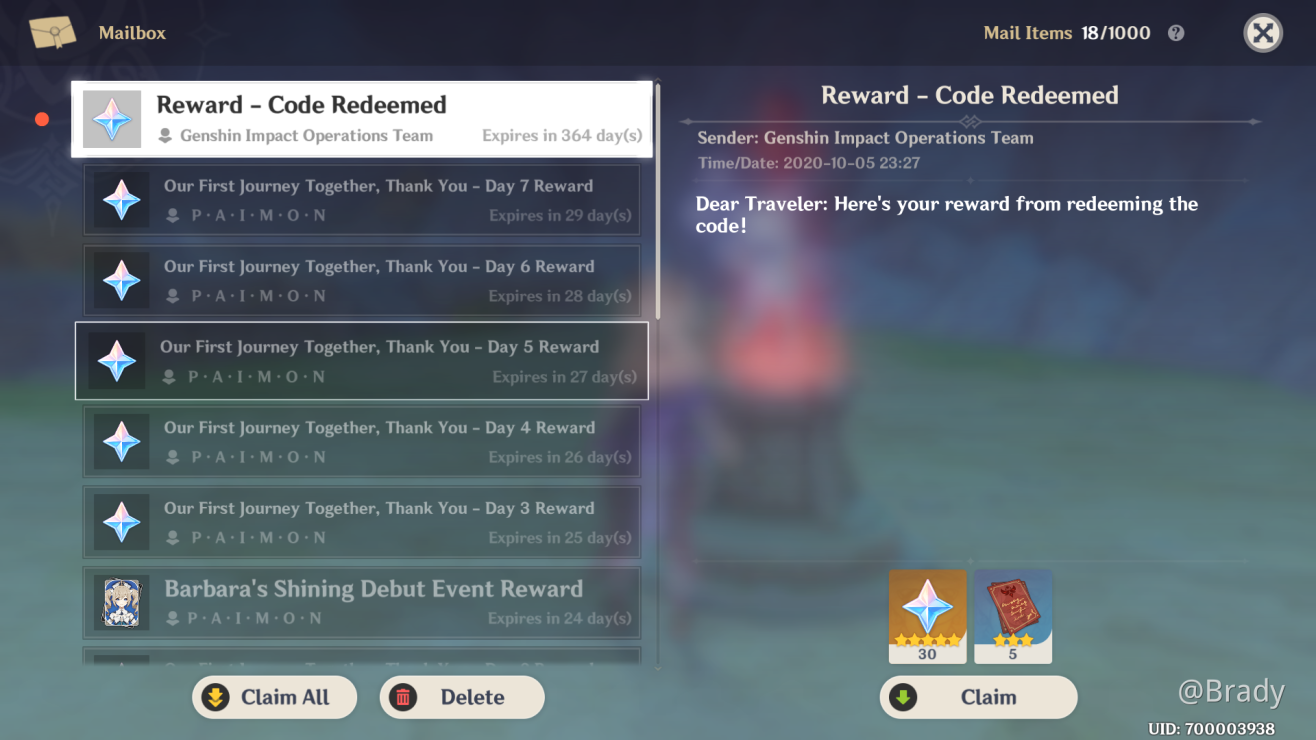 Event Redeem Code Expired For New Code Read Here Genshin Impact Official Community